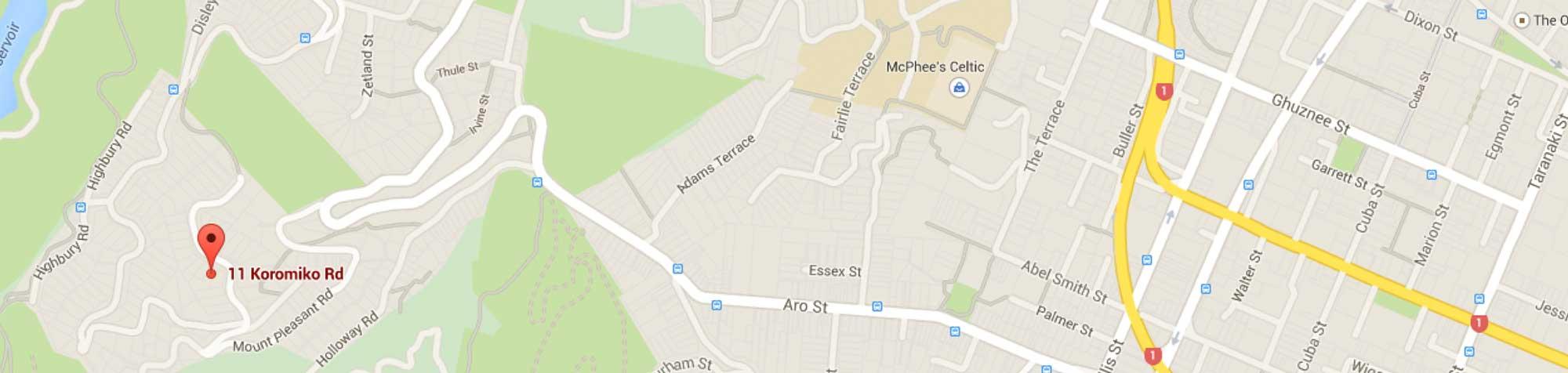 Google Map of 11 Koromiko Road, Highbury, Wellington